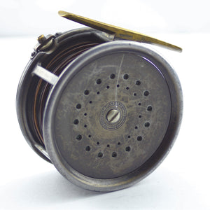 "Antique 1912 Hardy 4.1/4"" Perfect Wide Drum Salmon Alloy Fly Reel, Engraved 'R.L.S.'"