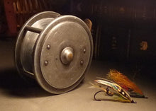 "Load image into Gallery viewer, A Hardy 4"" Uniqua Salmon Fly Reel Stamped Hardy's Uniqua Patent Reel"
