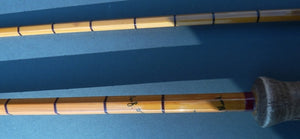 "Rare Hardy 10'6"" Viscount Grey Lough Or Grilse Rod"