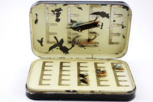 Load image into Gallery viewer, Large Malloch's Black Japanned Salmon Fly Box (1910-1920's)