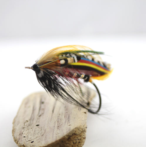 8/0 Restored Black Dose Variant Salmon Fly, By Davie McPhail