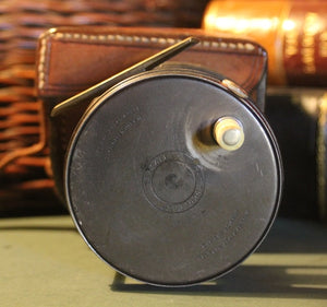 "Vintage 3.1/4"" 1921 Wide Drum Hardy Perfect Reel, with Hardy Leather Case"