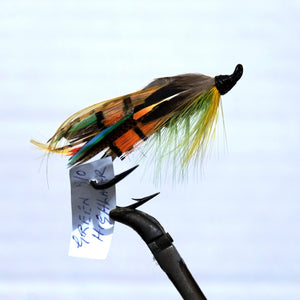 """Green Highlander"" Double Hook, Salmon-fly 5/0"