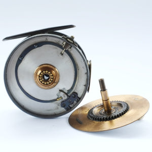 "Hardy 4.1/2"" Brass Faced Perfect Reel"