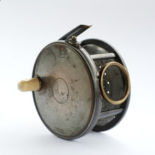 "Load image into Gallery viewer, Hardy 4.1/2"" Brass Faced Perfect Reel"