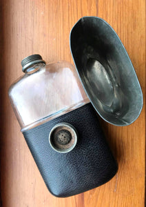 Antique Pewter Hip Flask