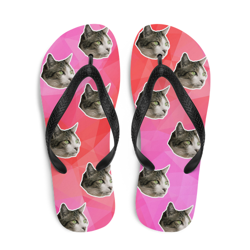 Custom Diamond Paradise Face Flip Flops