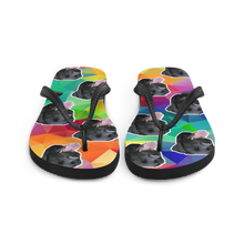 Load image into Gallery viewer, Custom Colorful Diamond Face Flip Flops