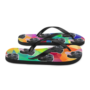 Custom Colorful Diamond Face Flip Flops
