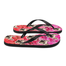 Load image into Gallery viewer, Custom Garden Floral Face Flip Flops