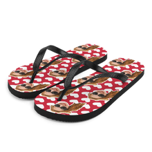 Load image into Gallery viewer, Custom Love Hearts Face Flip Flops