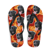Load image into Gallery viewer, Custom Pepperoni Pizza Face Flip Flops