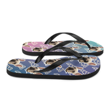 Load image into Gallery viewer, Custom Pizza Party Face Flip Flops