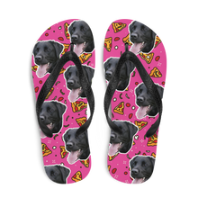 Load image into Gallery viewer, Custom Pizza Toppings Face Flip Flops