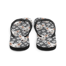 Load image into Gallery viewer, Custom Dog Paw Face Flip Flops