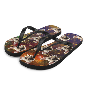 Custom Outer Space Face Flip Flops
