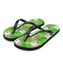 Load image into Gallery viewer, Custom Tropical Flower Face Flip Flops