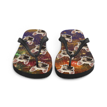 Load image into Gallery viewer, Custom Outer Space Face Flip Flops