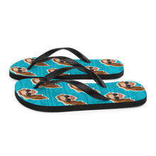 Load image into Gallery viewer, Custom Aloha Beach Face Flip Flops