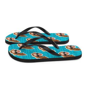 Custom Aloha Beach Face Flip Flops