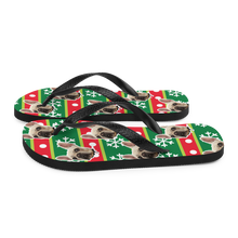 Load image into Gallery viewer, Custom Wrapping Paper Face Flip Flops