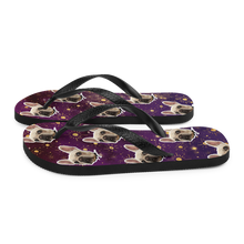 Load image into Gallery viewer, Custom Regal Stars Face Flip Flops