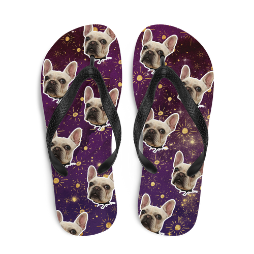 Custom Regal Stars Face Flip Flops