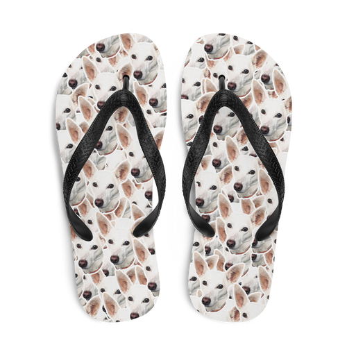 Custom 100 Face Pattern Flip Flops