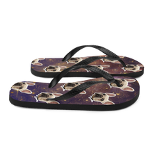 Load image into Gallery viewer, Custom Night Sky Face Flip Flops