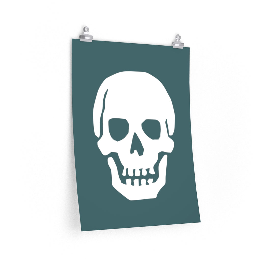 Simple skull II - Teal
