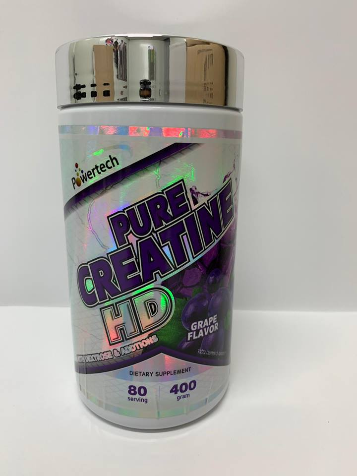 אבקת קריאטין - POWERTECH - PURE CREATINE HD-בטעם ענבים