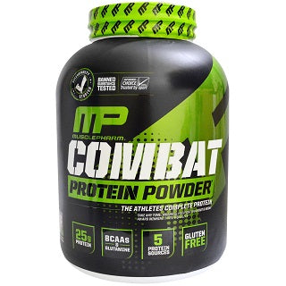 MUSCLEPHARM - COMBAT PROTEIN POWDER | קומבט אבקת חלבון מבית מאסל פארם כשר בטעם בננה | 1.814 ק