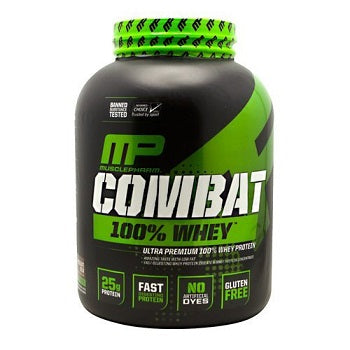 MUSCLEPHARM COMBAT 100% WHEY | אבקת חלבון מאסל פארם כשר בטעם תות 2.27 ק