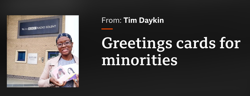 Greetings cards for minorities- Tim Daykin