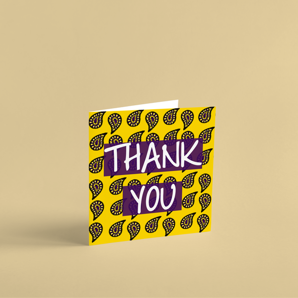 Asian Print Thank You Cards (3 Pack)