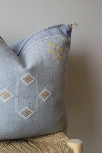 Cactus Silk Pillow Cover - 20 x 20 - Chambray - #10102