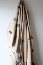 Load image into Gallery viewer, Moroccan Blanket - Camel & Midnight Essa Collection - Medium Cotton