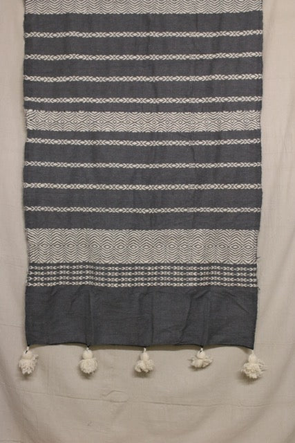 Moroccan Blanket (#SW3-38) - Small Cotton & Wool