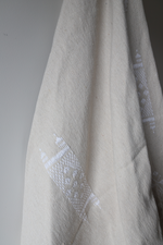 Load image into Gallery viewer, Moroccan Blanket - Basalt Natural & Oyster Essa Collection - Medium Cotton