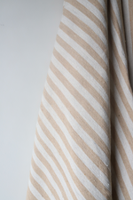 Load image into Gallery viewer, Moroccan Blanket - Camel & Basalt Natural Stripe - Small Cotton