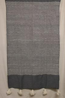Moroccan Blanket (#SW1-8) - Small Cotton & Wool