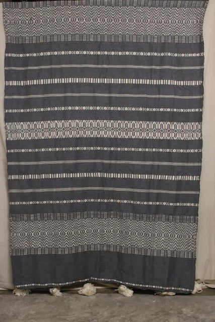 Moroccan Blanket (#LW3-25) - Large Cotton & Wool