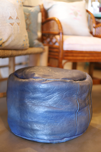 Authentic Moroccan Leather Pouf (other colors available)