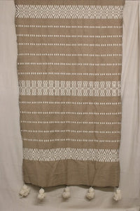 Moroccan Blanket (#SW3-9) - Small Cotton & Wool