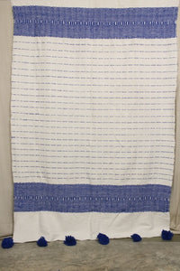 Moroccan Blanket (#LW2-6) - Large Cotton & Wool