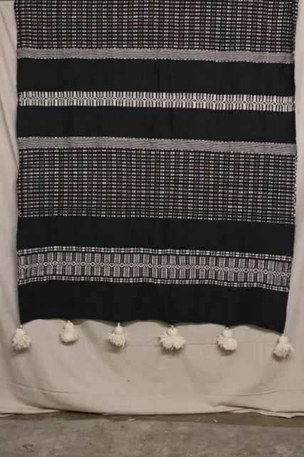 Moroccan Blanket (#LW3-21) - Large Cotton & Wool