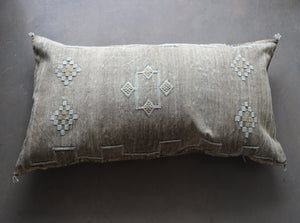Cactus Silk Pillow Cover - Large Bolster - One of a Kind - #10103