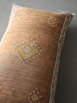 Load image into Gallery viewer, Cactus Silk Pillow Cover - Large Bolster - One of a Kind - #10104