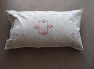Cactus Silk Pillow Cover - Large Bolster - Oyster - #10110
