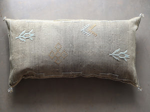 Cactus Silk Pillow Cover - Large Bolster - One of a Kind - #10106